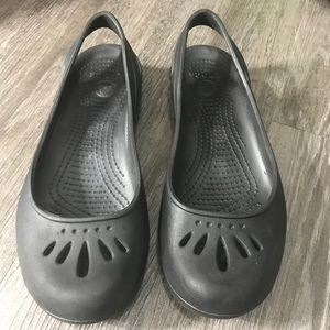 Crocs Black Kadee Slingback Flats Size 7